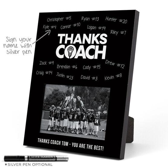 Guys Lacrosse Photo Frame - Coach (Autograph)