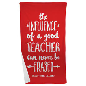 Personalized Teacher Beach Towel - Never Be Erased