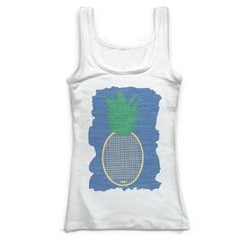 Tennis Vintage Fitted Tank Top - Preppy Pineapple