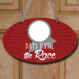 Dry Erase Countdown To The Next Race Decorative Oval Sign