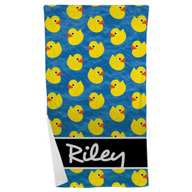 Swimming Beach Towel Personalized Rubber Ducky
