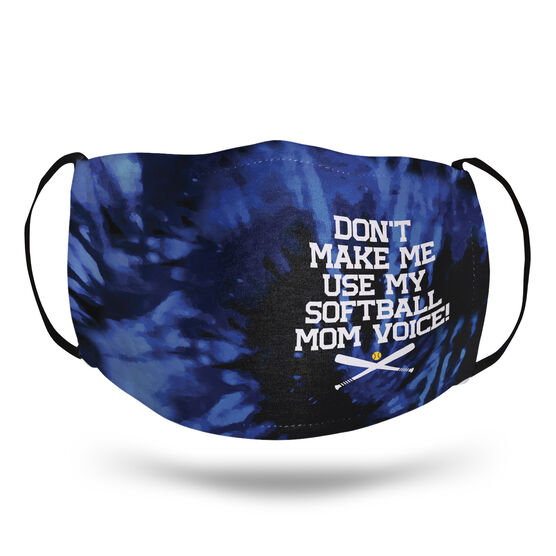 Softball Face Mask - Don't Make Me Use My Softball Mom Voice
