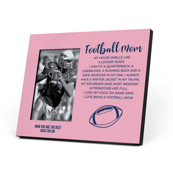 Football Photo Frame - Football Mom Poem
