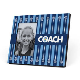 Girls Lacrosse Photo Frame - Coach With Stripes