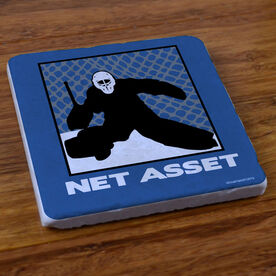 Hockey Net Asset - Stone Coaster