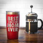 Soccer 20 oz. Double Insulated Tumbler - Best Mom Ever