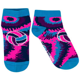 Volleyball Ankle Socks - Volleyball Tie-Dye Swirl