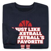 Basketball Crew Neck Sweatshirt - Basketball's My Favorite