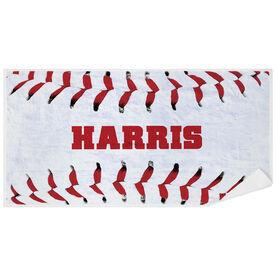 Baseball Premium Beach Towel - Personalized Stitches