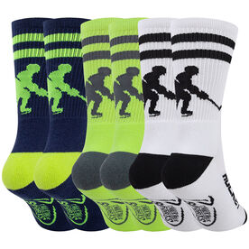 Hockey Woven Mid-Calf Sock Set - Player Bright