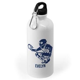 Softball 20 oz. Stainless Steel Water Bottle - Personalized Softball Catcher