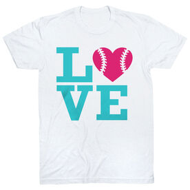 Softball T-Shirt Short Sleeve Love