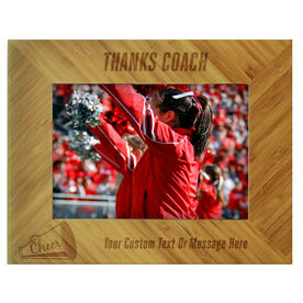 Cheerleading Bamboo Engraved Picture Frame Thanks Coach