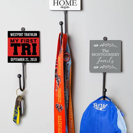 Triathlon Medal Hook - My First TrI