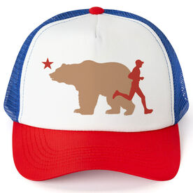 Running Trucker Hat - California Flag Male Runner