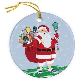 Lacrosse Porcelain Ornament Santa