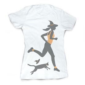 Vintage Running Fitted T-Shirt - Witch Running