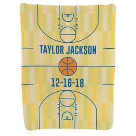Basketball Baby Blanket - Basketball Court