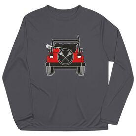 Guys Lacrosse Long Sleeve Performance Tee - Chillax Cruiser