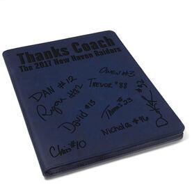 Basketball Executive Portfolio - Thanks Coach with Signatures