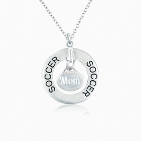 Soccer Mom Message Ring Necklace