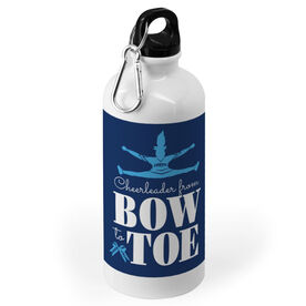 Cheerleading 20 oz. Stainless Steel Water Bottle - Cheerleader From Bow To Toe