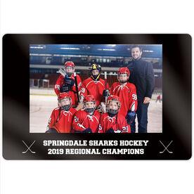 "Hockey 18"" X 12"" Aluminum Room Sign - Team Photo"
