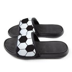 Soccer Repwell® Slide Sandals - Soccer Ball Texture