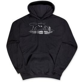 Fly Fishing Hooded Sweatshirt - Fly Fishing Sketch