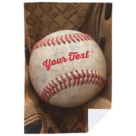 Baseball Premium Blanket - Ball And Glove