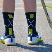 Hockey Woven Mid-Calf Socks - Sticks (Black/Gold)
