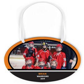 Hockey Oval Sign - Team Photo