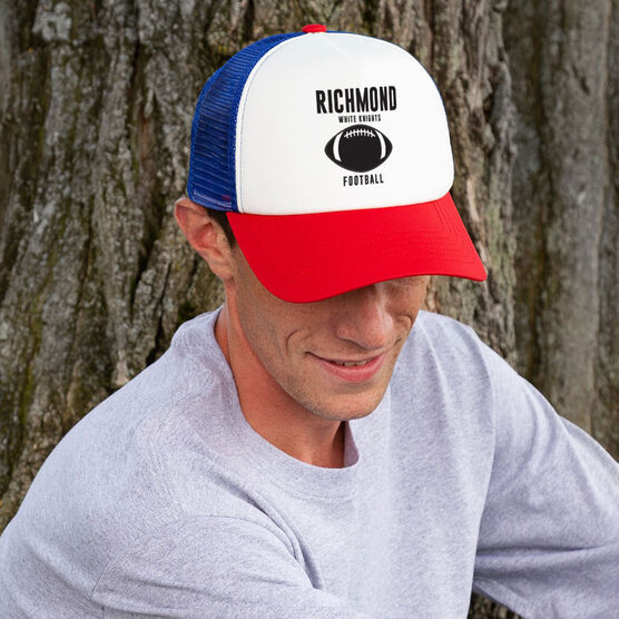 Football Trucker Hat - Team Name With Text