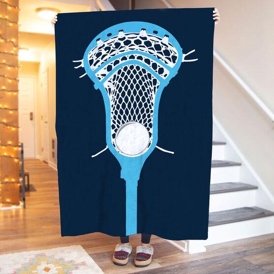 Guys Lacrosse Premium Blanket - Lacrosse Stick Head Two-Tone