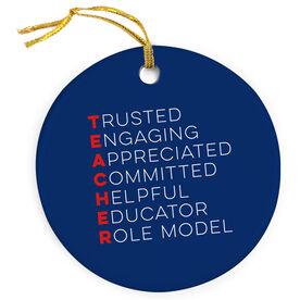 Teacher Porcelain Ornament - Teacher Words