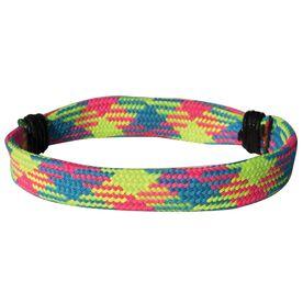 Hockey Lace Bracelet Blue Green Pink Argyle Adjustable Wrister Bracelet