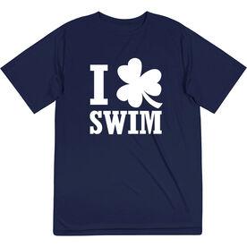 Swimming Short Sleeve Performance Tee - I Shamrock Swim