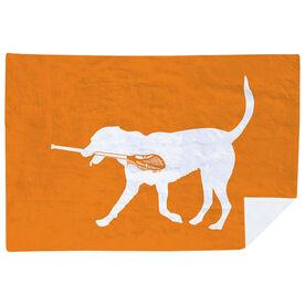 Guys Lacrosse Premium Blanket - Max The Lax Dog