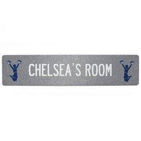 "Cheerleading Aluminum Room Sign - Personalized Cheer Room (4""x18"")"