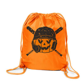 Baseball Sport Pack Cinch Sack - Helmet Pumpkin