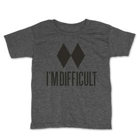 Skiing & Snowboarding Toddler Short Sleeve Tee - I'm Difficult