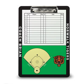 ChalkTalk Baseball Custom Coaches Dry Erase Clipboard