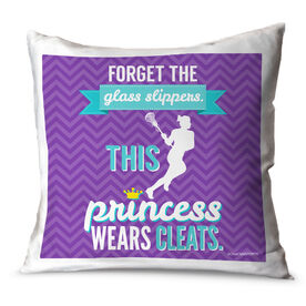 Girls Lacrosse Throw Pillow Forget The Glass Slippers This Princess Wears Cleats