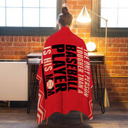 Baseball Premium Blanket - Tougher Than A Baseball Player