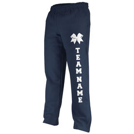 Cheerleading Fleece Sweatpants Team Name With Bow