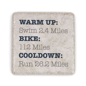 Triathlon Stone Coaster - Warm Up Bike Cooldown 140.6