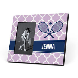 Tennis Photo Frame - Personalized Rackets Quatrefoil