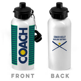 Softball 20 oz. Stainless Steel Water Bottle - Coach