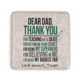 Hockey Stone Coaster - Dear Dad (Autograph)
