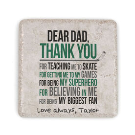 Hockey Stone Coaster - Dear Dad (Autograph)